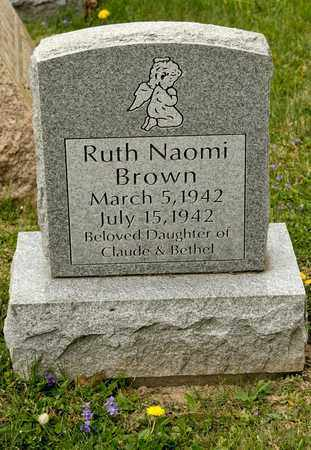 BROWN, RUTH NAOMI - Richland County, Ohio | RUTH NAOMI BROWN - Ohio Gravestone Photos