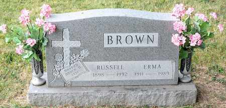 BROWN, RUSSELL - Richland County, Ohio | RUSSELL BROWN - Ohio Gravestone Photos