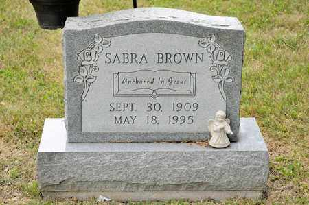 BROWN, SABRA - Richland County, Ohio | SABRA BROWN - Ohio Gravestone Photos