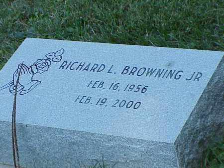 BROWNING, JR., RICHARD L. - Richland County, Ohio | RICHARD L. BROWNING, JR. - Ohio Gravestone Photos
