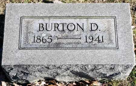BRUBAKER, BURTON D - Richland County, Ohio | BURTON D BRUBAKER - Ohio Gravestone Photos