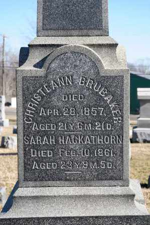 HACKATHORN, SARAH - Richland County, Ohio | SARAH HACKATHORN - Ohio Gravestone Photos