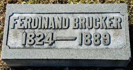 BRUCKER, FERDINAND - Richland County, Ohio | FERDINAND BRUCKER - Ohio Gravestone Photos
