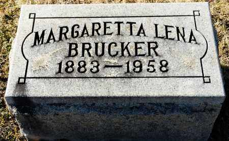 BRUCKER, MARGARETTA LENA - Richland County, Ohio | MARGARETTA LENA BRUCKER - Ohio Gravestone Photos