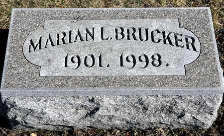 BRUCKER, MARIAN L - Richland County, Ohio | MARIAN L BRUCKER - Ohio Gravestone Photos