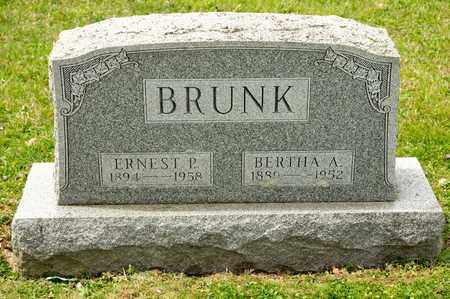 BRUNK, ERNEST P - Richland County, Ohio | ERNEST P BRUNK - Ohio Gravestone Photos