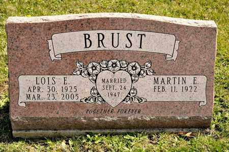BRUST, MARTIN E - Richland County, Ohio | MARTIN E BRUST - Ohio Gravestone Photos