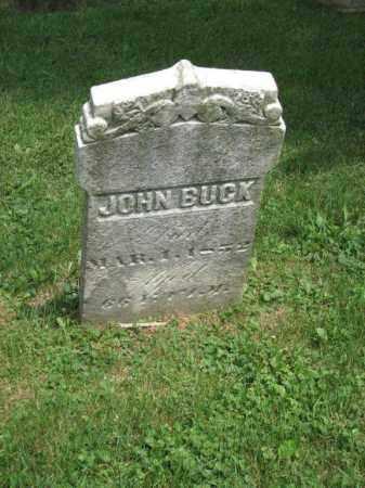 BUCK, JOHN - Richland County, Ohio | JOHN BUCK - Ohio Gravestone Photos