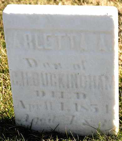 BUCKINGHAM, ARLETTA A - Richland County, Ohio | ARLETTA A BUCKINGHAM - Ohio Gravestone Photos