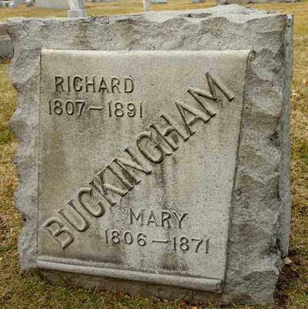 BUCKINGHAM, RICHARD - Richland County, Ohio | RICHARD BUCKINGHAM - Ohio Gravestone Photos