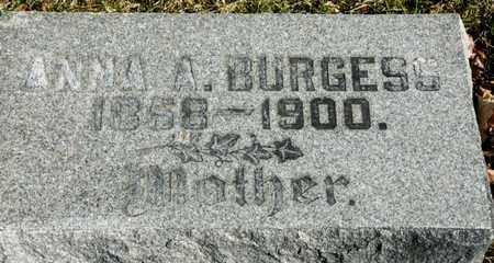BURGESS, ANNA A - Richland County, Ohio | ANNA A BURGESS - Ohio Gravestone Photos