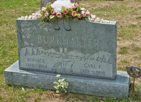 BURKHALTER, CARL F - Richland County, Ohio | CARL F BURKHALTER - Ohio Gravestone Photos