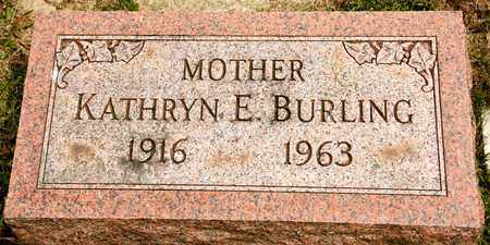 BURLING, KATHRYN E - Richland County, Ohio | KATHRYN E BURLING - Ohio Gravestone Photos