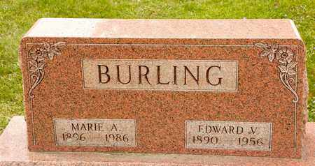 BURLING, EDWARD V - Richland County, Ohio | EDWARD V BURLING - Ohio Gravestone Photos