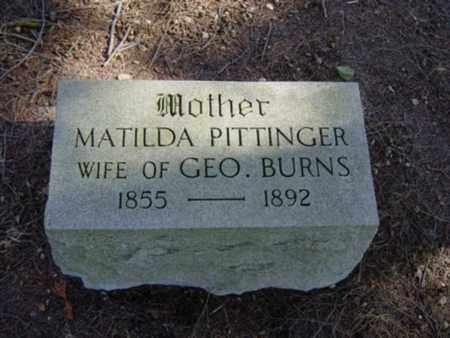 BURN, MATILDA - Richland County, Ohio | MATILDA BURN - Ohio Gravestone Photos