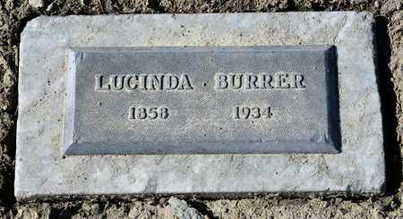 BURRER, LUCINDA - Richland County, Ohio | LUCINDA BURRER - Ohio Gravestone Photos