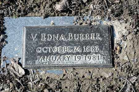 BURRER, V EDNA - Richland County, Ohio | V EDNA BURRER - Ohio Gravestone Photos