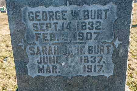 BURT, GEORGE W - Richland County, Ohio | GEORGE W BURT - Ohio Gravestone Photos