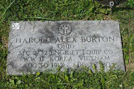 BURTON, HAROLD ALEX - Richland County, Ohio | HAROLD ALEX BURTON - Ohio Gravestone Photos