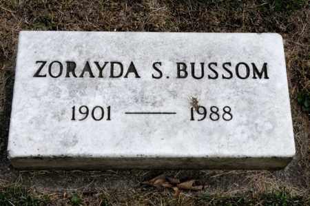 BUSSOM, ZORAYDA S - Richland County, Ohio | ZORAYDA S BUSSOM - Ohio Gravestone Photos