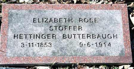 STOFFER BUTTERBAUGH, ELIZABETH ROSE - Richland County, Ohio | ELIZABETH ROSE STOFFER BUTTERBAUGH - Ohio Gravestone Photos