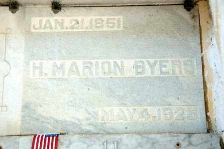 BYERS, H MARION - Richland County, Ohio | H MARION BYERS - Ohio Gravestone Photos