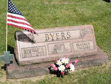 BYERS, MARY E - Richland County, Ohio | MARY E BYERS - Ohio Gravestone Photos