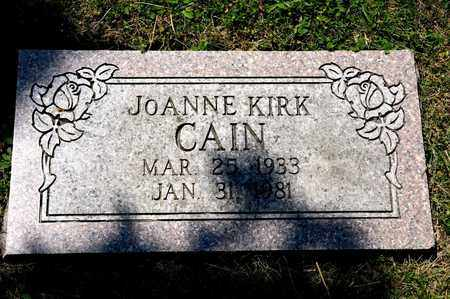 KIRK CAIN, JOANNE - Richland County, Ohio | JOANNE KIRK CAIN - Ohio Gravestone Photos