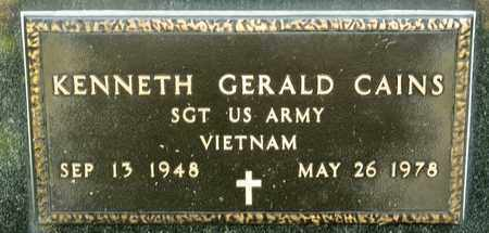 CAINS, KENNETH GERALD - Richland County, Ohio | KENNETH GERALD CAINS - Ohio Gravestone Photos