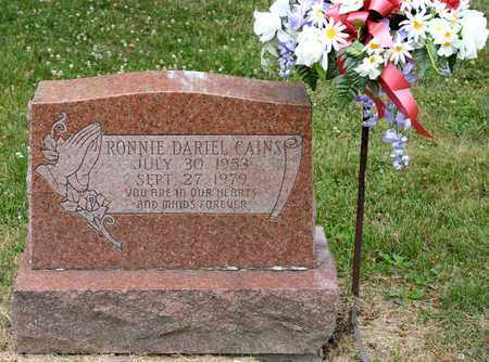 CAINS, RONNIE DARIEL - Richland County, Ohio | RONNIE DARIEL CAINS - Ohio Gravestone Photos