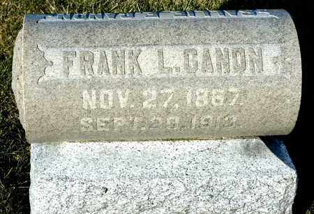 CANON, FRANK L - Richland County, Ohio | FRANK L CANON - Ohio Gravestone Photos