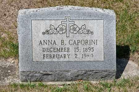 CAPORINI, ANNA B - Richland County, Ohio | ANNA B CAPORINI - Ohio Gravestone Photos