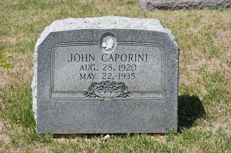 CAPORINI, JOHN - Richland County, Ohio | JOHN CAPORINI - Ohio Gravestone Photos