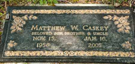 CASKEY, MATTHEW W - Richland County, Ohio | MATTHEW W CASKEY - Ohio Gravestone Photos