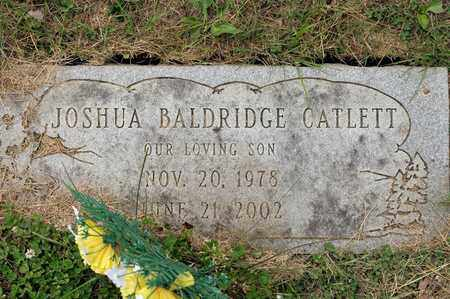 CATLETT, JOSHUA BALDRIDGE - Richland County, Ohio | JOSHUA BALDRIDGE CATLETT - Ohio Gravestone Photos