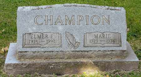 CHAMPION, MARIE - Richland County, Ohio | MARIE CHAMPION - Ohio Gravestone Photos