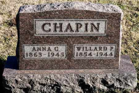 CHAPIN, WILLARD P - Richland County, Ohio | WILLARD P CHAPIN - Ohio Gravestone Photos