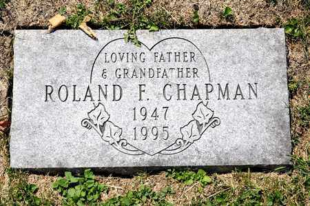 CHAPMAN, ROLAND F - Richland County, Ohio | ROLAND F CHAPMAN - Ohio Gravestone Photos