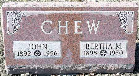 CHEW, BERTHA M - Richland County, Ohio | BERTHA M CHEW - Ohio Gravestone Photos