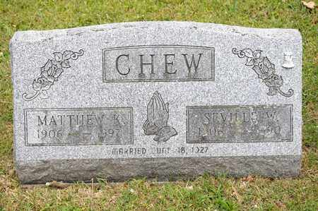CHEW, SEVILLE W - Richland County, Ohio | SEVILLE W CHEW - Ohio Gravestone Photos