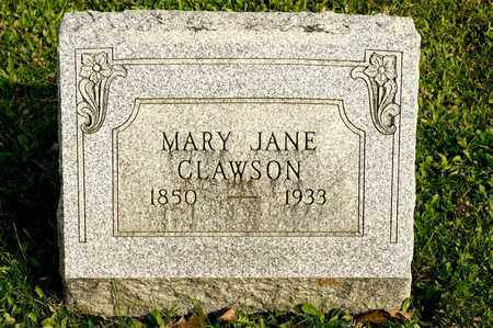 CLAWSON, MARY JANE - Richland County, Ohio | MARY JANE CLAWSON - Ohio Gravestone Photos