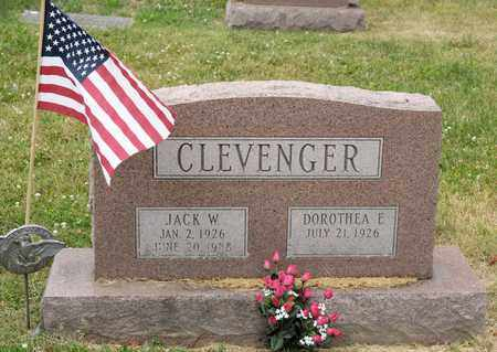 CLEVENGER, JACK W - Richland County, Ohio | JACK W CLEVENGER - Ohio Gravestone Photos