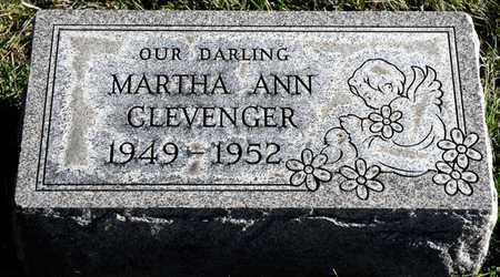 CLEVENGER, MARTHA ANN - Richland County, Ohio | MARTHA ANN CLEVENGER - Ohio Gravestone Photos