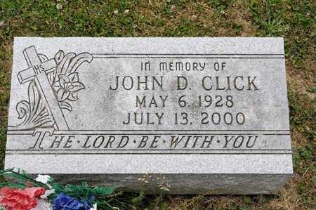 CLICK, JOHN D - Richland County, Ohio | JOHN D CLICK - Ohio Gravestone Photos
