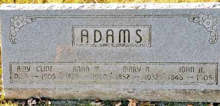 ADAMS, JOHN A - Richland County, Ohio | JOHN A ADAMS - Ohio Gravestone Photos