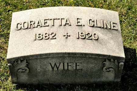 CLINE, CORAETTA E - Richland County, Ohio | CORAETTA E CLINE - Ohio Gravestone Photos