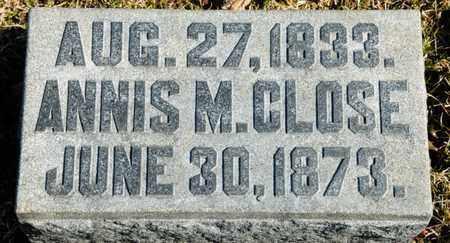 CLOSE, ANNIS M - Richland County, Ohio | ANNIS M CLOSE - Ohio Gravestone Photos