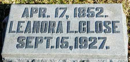 CLOSE, LEANORA L - Richland County, Ohio | LEANORA L CLOSE - Ohio Gravestone Photos