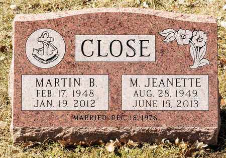 CLOSE, MARTIN B - Richland County, Ohio | MARTIN B CLOSE - Ohio Gravestone Photos