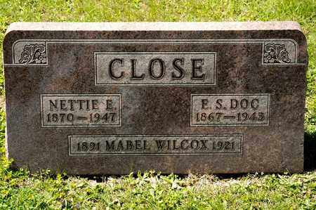CLOSE, NETTIE E - Richland County, Ohio | NETTIE E CLOSE - Ohio Gravestone Photos